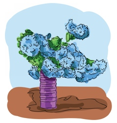 Digital painted bouquet vector