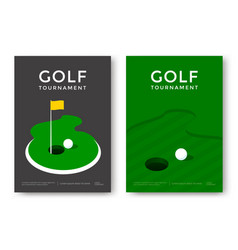 golf poster design vector image vector image
