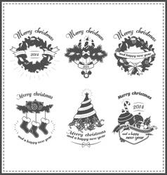 Set of Christmas design elements vector image