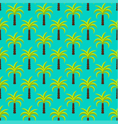 tropic palm trees seamless pattern vector image vector image