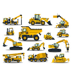 big set of construction equipment special vector image