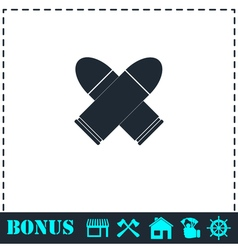 Bullet icon flat vector image vector image