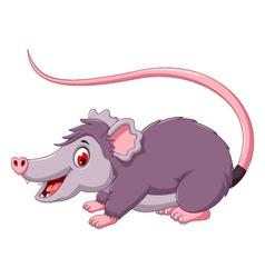 cute opossum cartoon posing vector image vector image