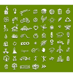 Ecology icons for your design vector image vector image