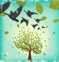 migrating birds vector image vector image