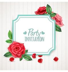 Rose Flowers Frame vector image vector image