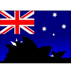 silhouette of sydney vector image vector image