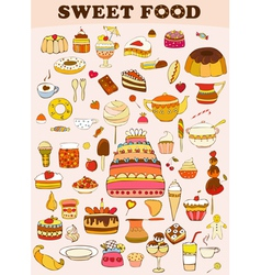 Sweets Food Set vector image