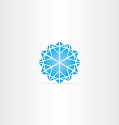 abstract blue star snowflake symbol vector image vector image