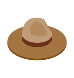 Farmer hat icon isometric 3d style vector image