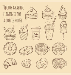 hand drawn - collection of vector image