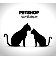 pet shop veterinary emblem graphic vector image