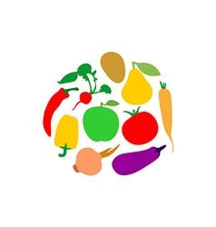 Vegetables logo vector image vector image