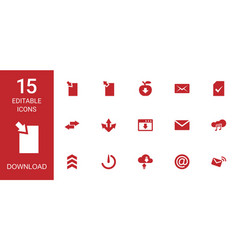 15 download icons vector image