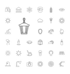 33 light icons vector image