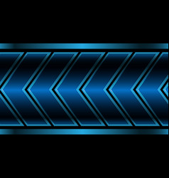 abstract blue metallic arrow pattern on black vector image