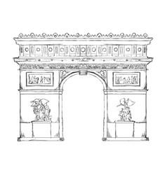 arch of triumph paris vector image