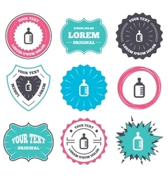 Baby milk bottle icon child food symbol vector