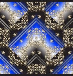 Baroque striped 3d seamless pattern geometric vector