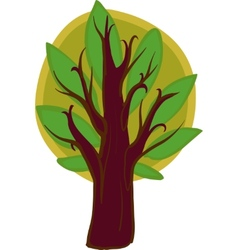 Big cartoon Tree Isolated vector image
