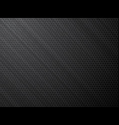 Black brushed metal perforated steel background vector