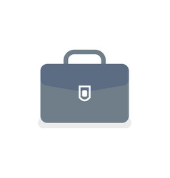 briefcase with lock isolated icon case vector image