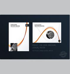 Brochure design soft template colourful modern vector