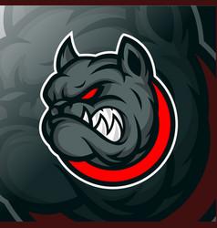 Bulldog mascot logo template vector