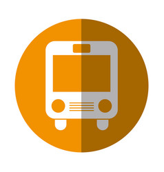 bus transport isolated icon vector image