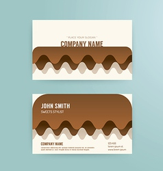 Business card template modern abstract cake vector
