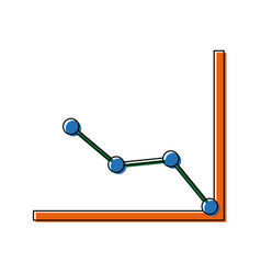 business graph and chart progress financial vector image