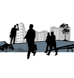 Business silhouettes vector