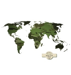 Camouflage military world map vector image