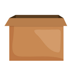 Carton box packing icon square frame and birthday vector