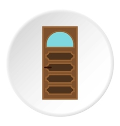 Carved door icon flat style vector