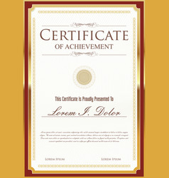 Certificate template 3 vector