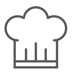 chef hat line icon kitchen and cooking vector image