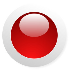 circle button with blank space and highlight vector image
