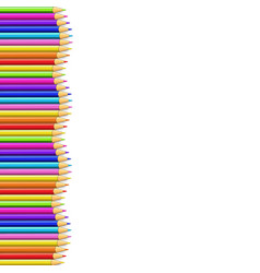 colored pencils left side line in shape of wave vector image
