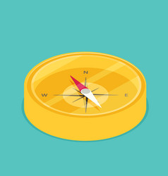 Compass icon web flat vector