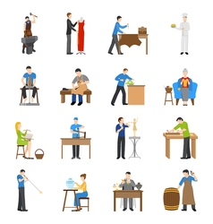 Craftsmen Icons Flat vector