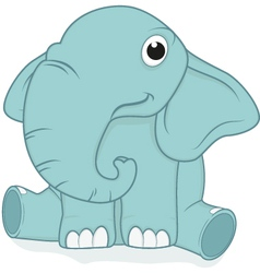 cute elephant baby vector image