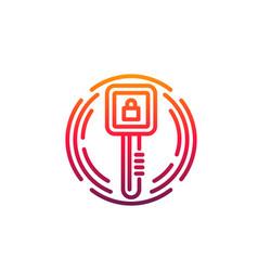 cyber security icon digital access key padlock vector image