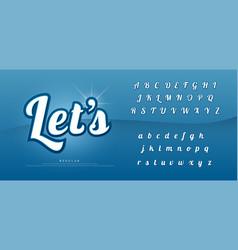 elegant alphabet letters set exclusive custom vector image