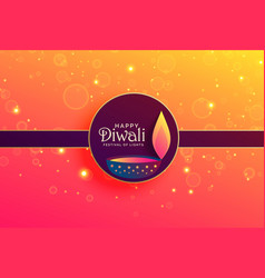 Elegant happy diwali background with sparkles and vector