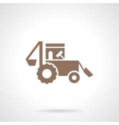 Farming tractor glyph style icon vector image