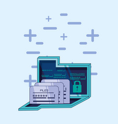 folder with files data security vector image