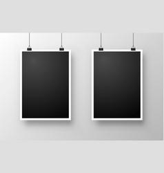 Foto frame hang vector