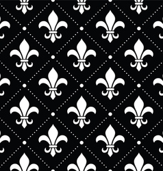 French damask background - fleur de lis pattern vector