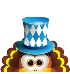 Funny turkey Oktoberfest Card Design Template vector image